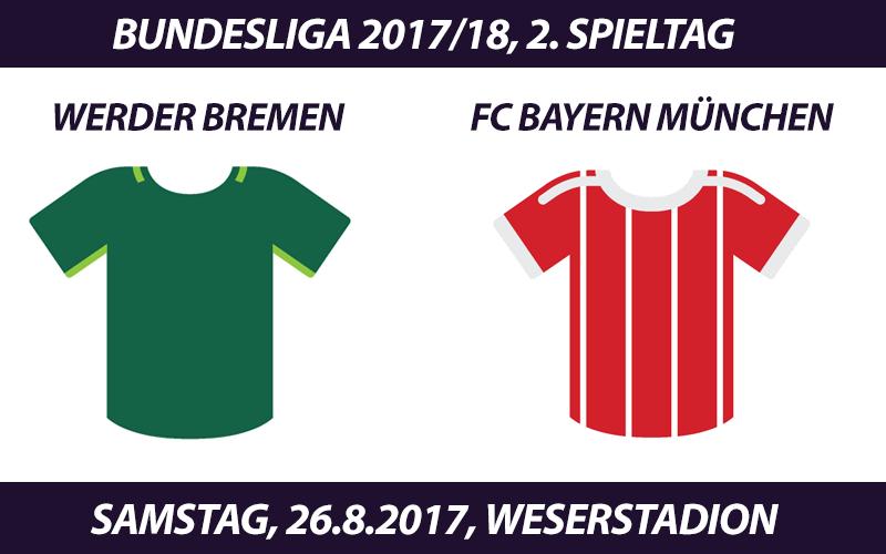 Bundesliga Tickets: Werder Bremen - FC Bayern, 26.8.2017