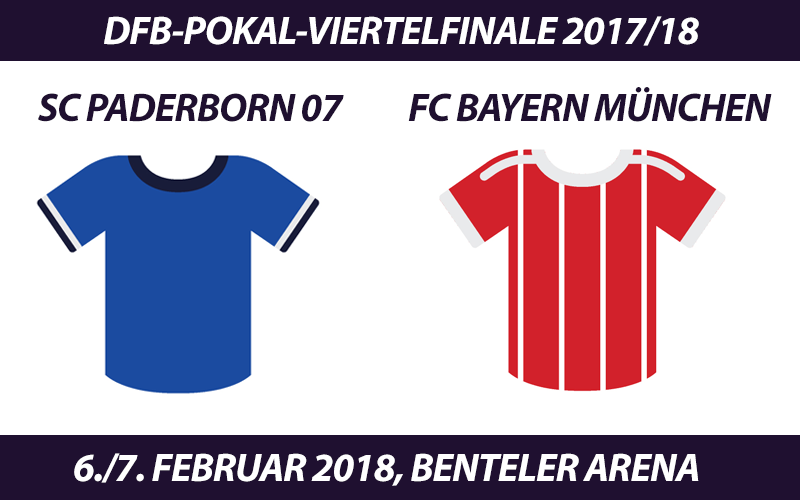 DFB-Pokal Tickets: SC Paderborn 07 - FC Bayern München, 6./7.2.2018