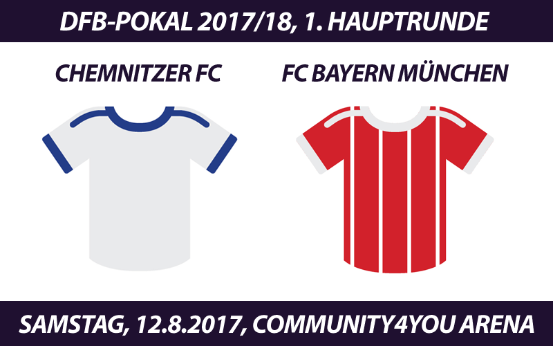 DFB-Pokal Tickets: Chemnitzer FC - FC Bayern München, 12.8.2017