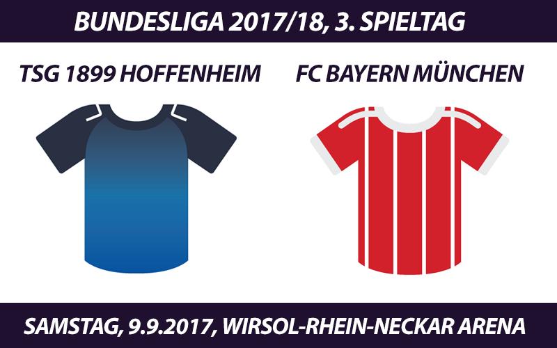 Bundesliga Tickets: TSG 1899 Hoffenheim - FC Bayern, 9.9.2017