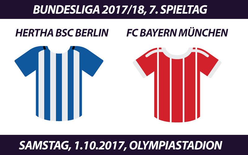Bundesliga Tickets: Hertha BSC Berlin - FC Bayern, 1.10.2017