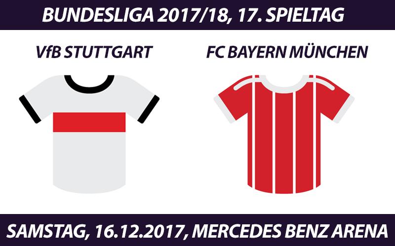 Bundesliga Tickets: VfB Stuttgart - FC Bayern München, 16.12.2017